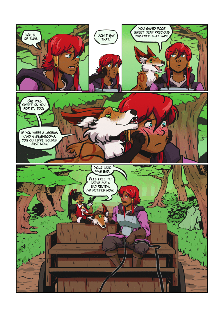 Saffron is canonically not a lesbian AND a mushroom, though it remains possible she is one of the two. Or that other sexualities exist, you biphobic fox.