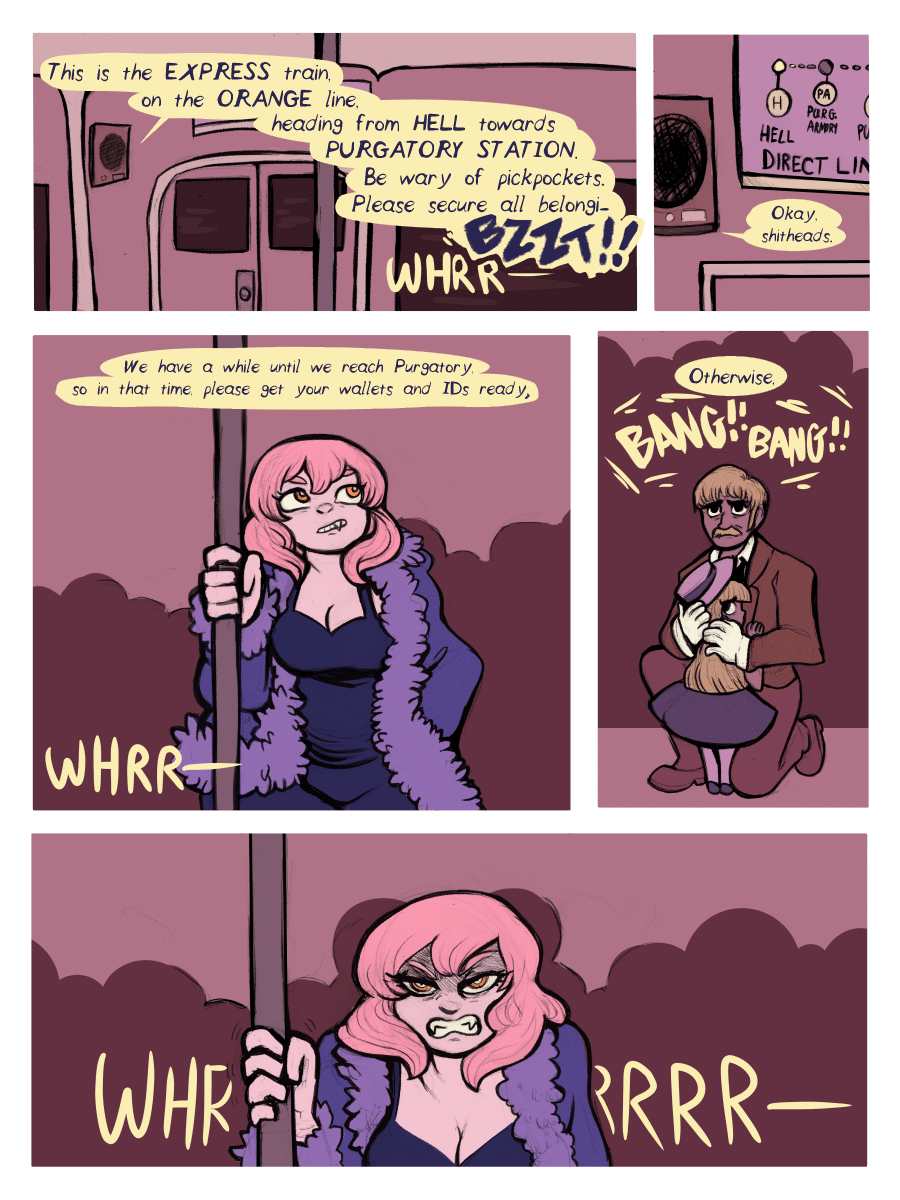 Oh please, no one can ever make out what comes over a train speaker, this comic is unrealistic