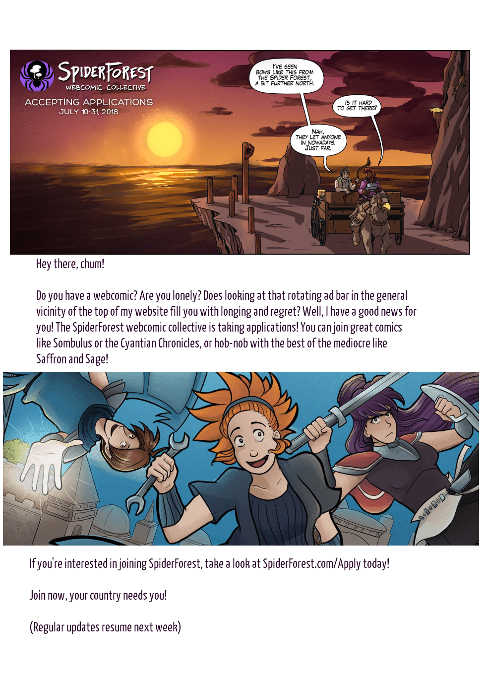 The second image is from Sombulus, whose creator helped me with the top graphic. Thank her by checking out her comic!