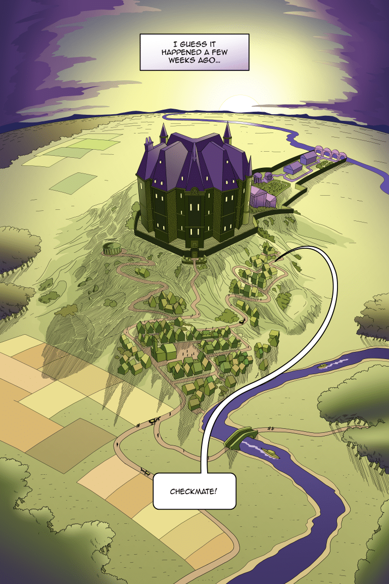A shining city on a hill, contained entirely in that one house